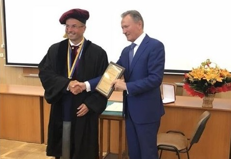 Awarding the Title of an Honorary Doctor of ONMedU to Professor Remigius Jalunas