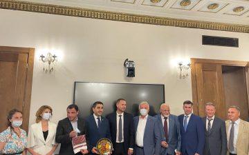 Валерій Запорожан в Парламенті Грузії: Нам цікава співпраця і обмін досвідом на міждержавному і університетському рівнях
